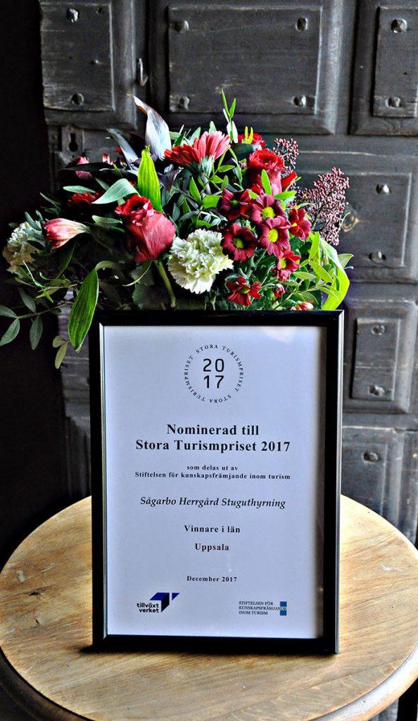 Swedish tourism prize 2017 - Sågarbo herrgård stuguthyrning