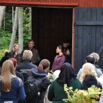 The Crown Princess of Sweden at Sågarbo herrgård with owners, Eric and Beate Tjernström