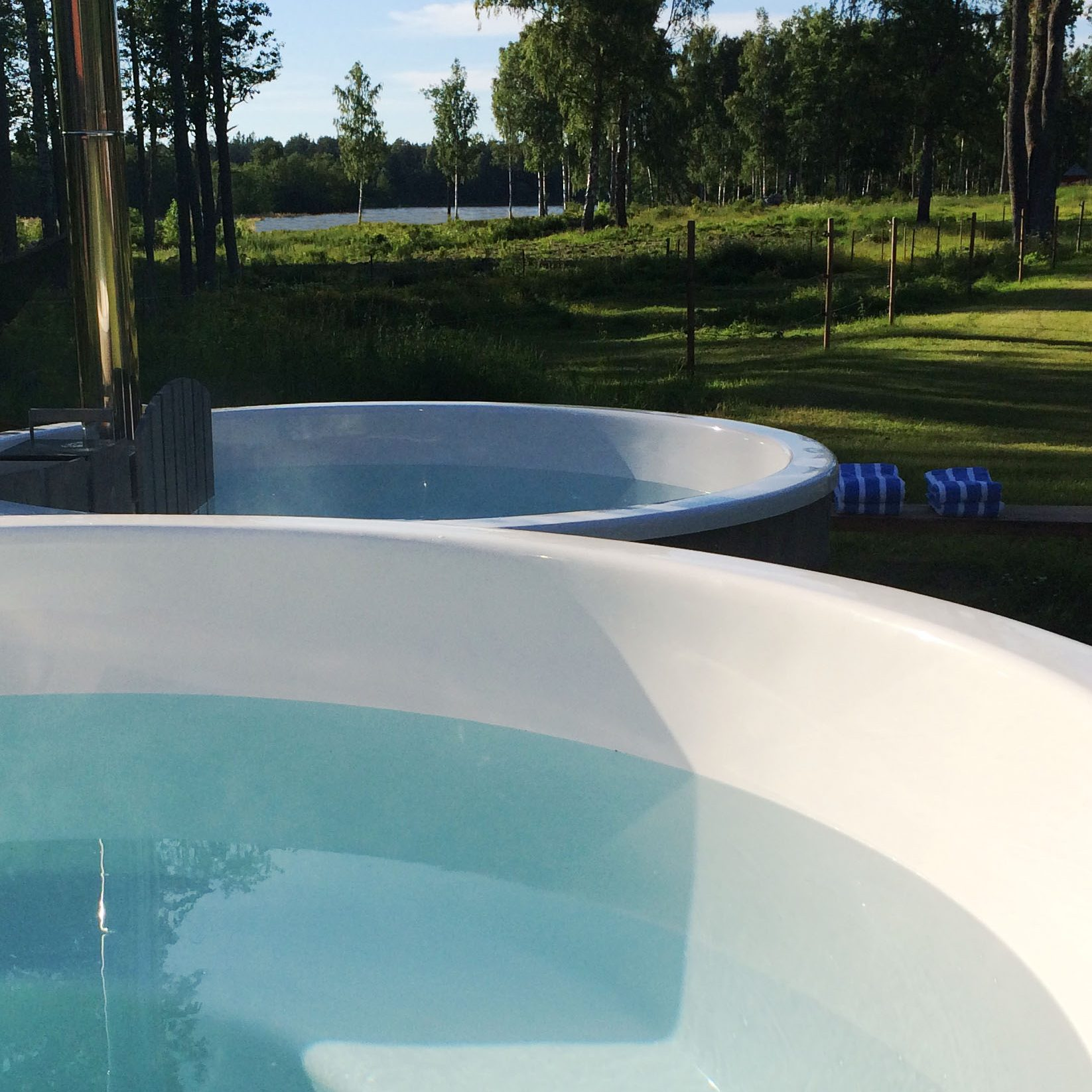 Swedish hot tub Sågarbo herrgård stuguthyrning